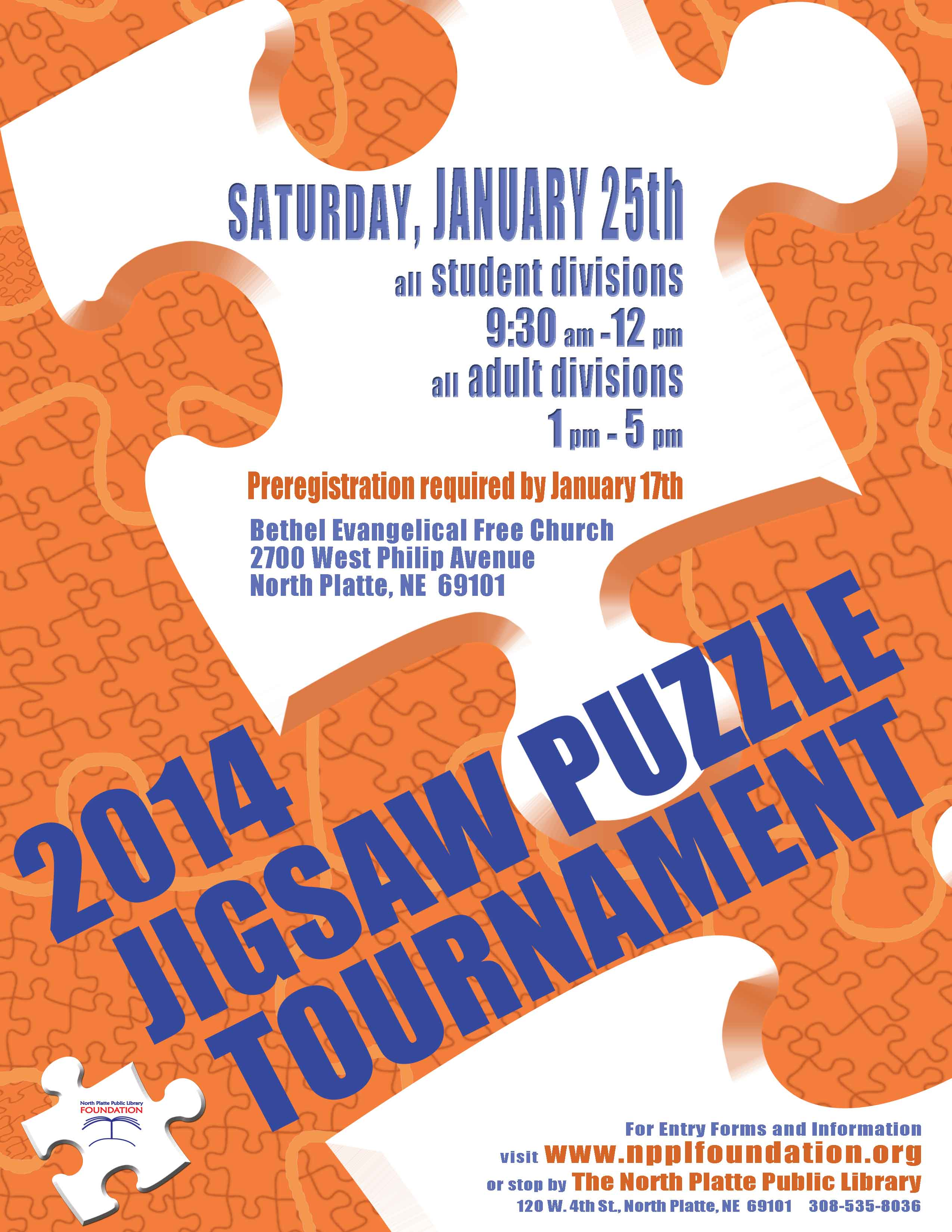 2014 Jigsaw Puzzle Tournament Poster